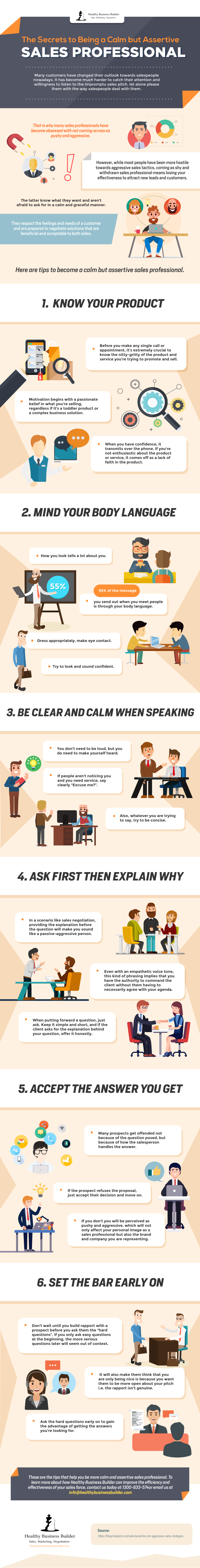 The Secrets to Being a Calm but Assertive Sales Professional