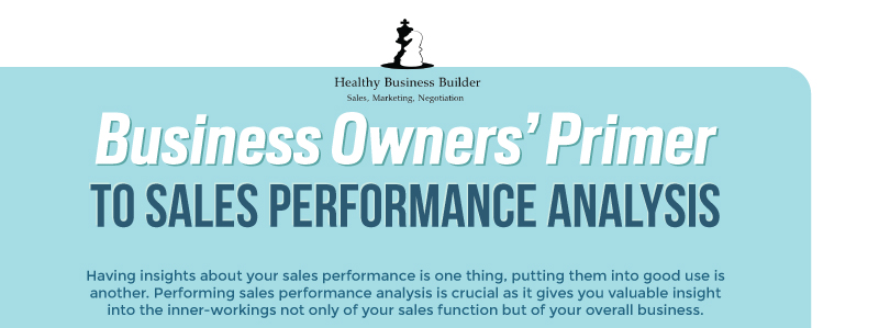 Business Owners' Primer to Sales Performance Analysis (Infographic)