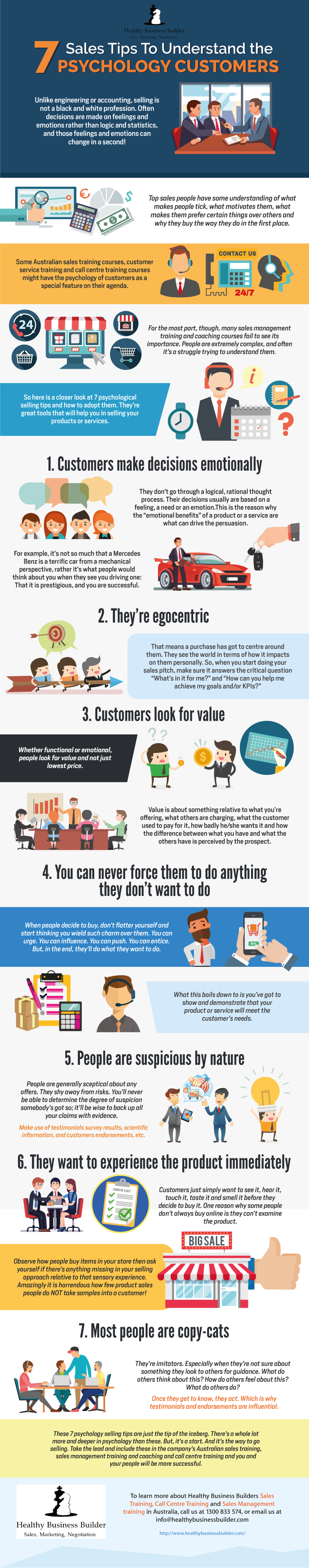 7 Sales Tips To Understand the Psychology of Customers!