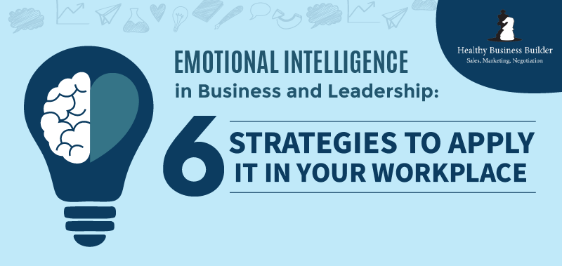 Emotional Intelligence in Business and Leadership: 6 Strategies to Apply It In Your Workplace (Infographic)