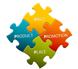 USP 4Ps of Mrketing Puzzle Image: Price, Promotion, Place and Product