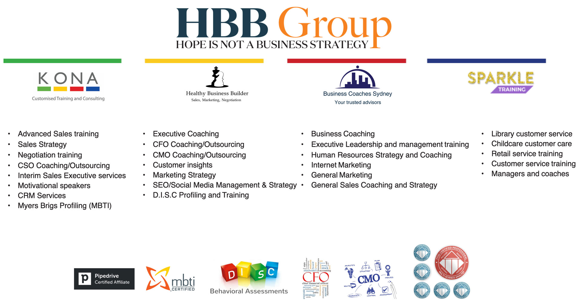 hbb group our services