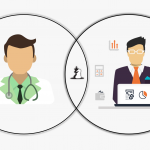 The Physician and the Pharma Account Manager Clipart