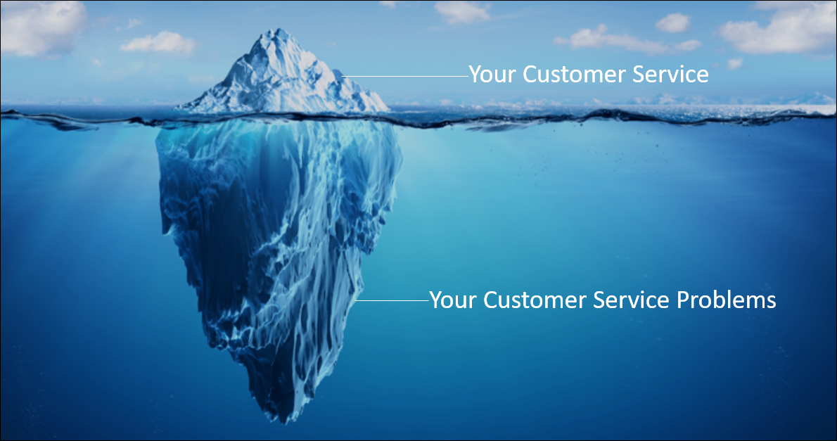Customer Service Iceberg Image and Reflection