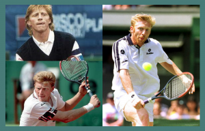 collage of boris becker playing tennis with his tongue sticking out for a blog on how to read body language training