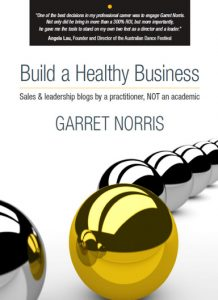 Build a Healthy Business by Garret Norris book cover for self growth must-reads in lockdown